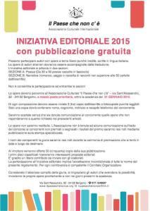 INIZIATIVA EDITORIALE 2015
