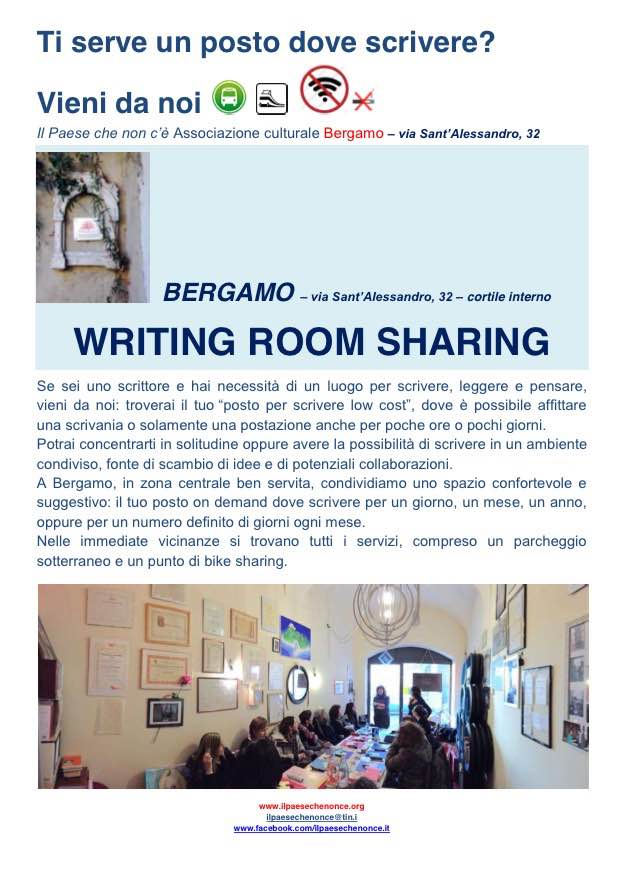 WRITING ROOM SHARING immagine