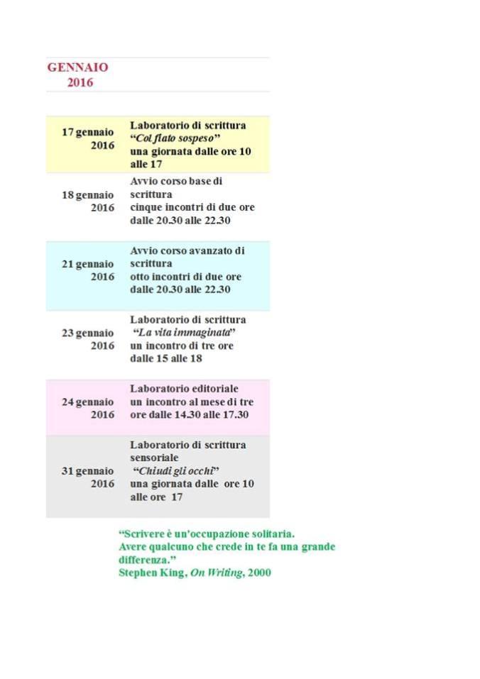 gennaio 2016 programma